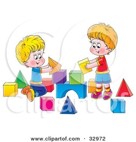 Cat Siblings Wooden Clip royalty free rf clipart of blocks illustrations vector