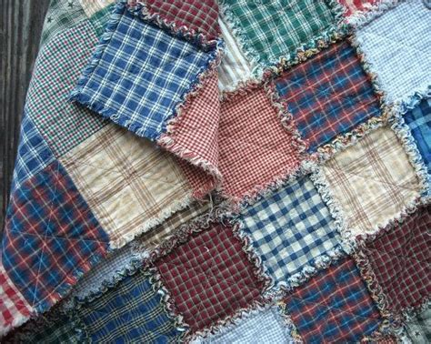 Fabric For Rag Quilt by Plaid Rag Quilt Baby Child Throw Homespun Fabric 33 Quot X38 Quot