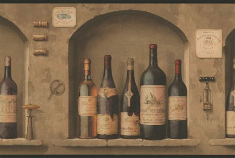 wine bottle kitchen decor wine bottles wallpaper border nv9652b wine kitchen decor