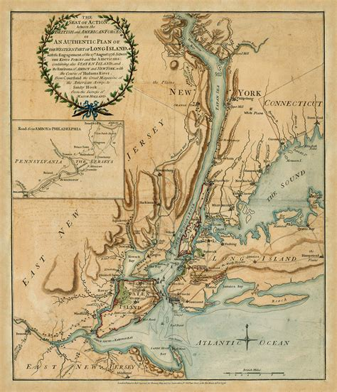 new york 1776 map american revolutionary war battle map depicting the new