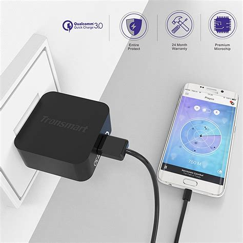 Travel Charger Led 3 Usb Kabel Type P 02 Advan3 1a Max Output tronsmart charger usb qc 3 0 eu dengan kabel type c wc1t black jakartanotebook