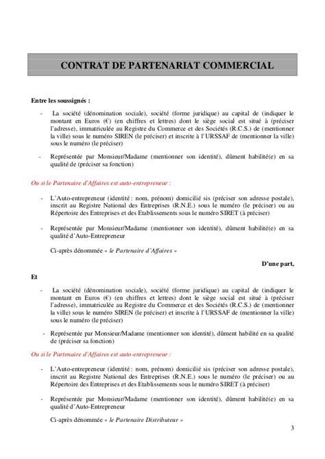 Exemple De Lettre Partenariat Entreprise Exemple De Contrat Entre 2 Entreprises