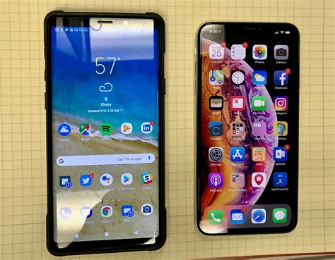 samsung galaxy note 9 and iphone xs max two awesome beautiful smartphones