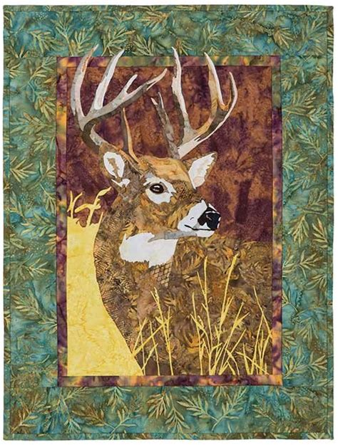 pattern whitetail deer wildlife portraits whitetail delight quilt pattern