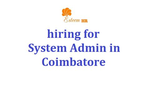 Internship For Mba Students In Coimbatore by Esteem Hr Solutions