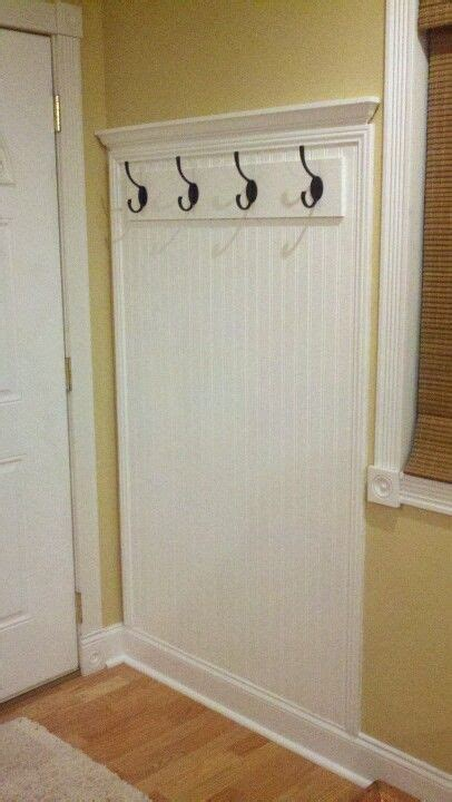 Prefab Wainscoting by My Husbsnd Made This Coat Rack With Prefab Mdf
