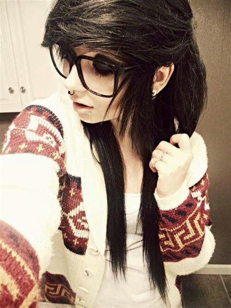 emo hairstyles with glasses black emo hair gorgeous let s think about how the hair
