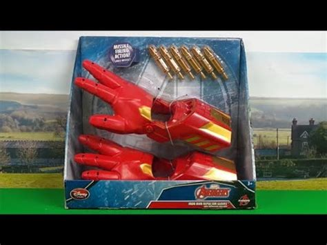 nerf iron man shooting hands toy disney store