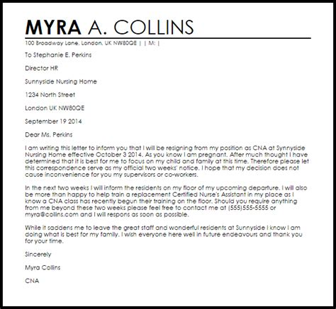 Resume Samples U Of T by Resignation Letter Due To Pregnancy Resignation Letters Livecareer