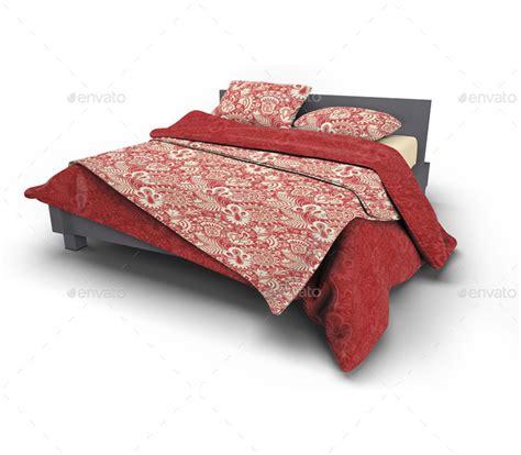Bed Set Up Bed Linens Bedding Set Mock Up By L5design Graphicriver