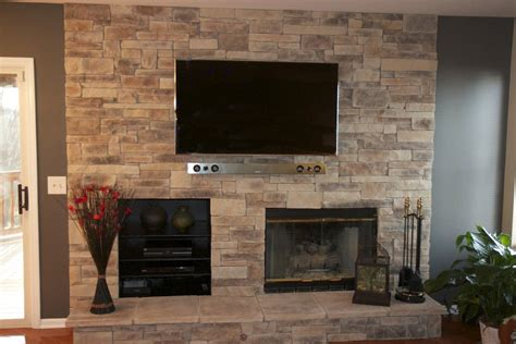 stone fireplace ideas feature walls with tv and fireplace inspiring stone