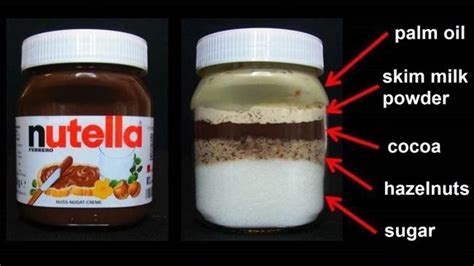 what is a jar what nutella really looks like photo of jar with ingredients