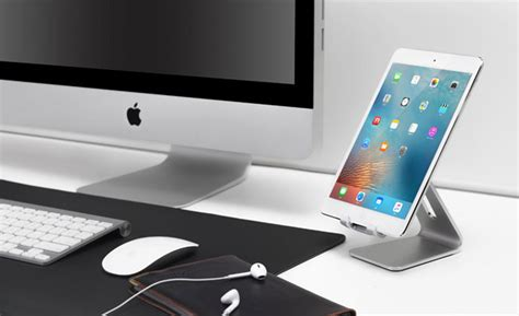 silver aluminum lazy bracket stand  iphone ipad mini
