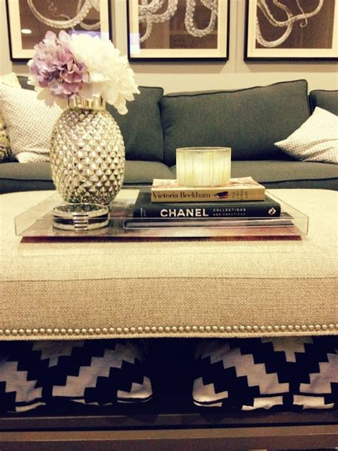 decorating an ottoman with tray best 25 ottoman tray ideas on pinterest coffee table