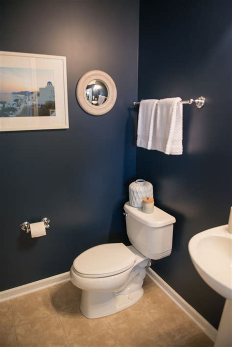 Navy bathroom sherwin williams naval