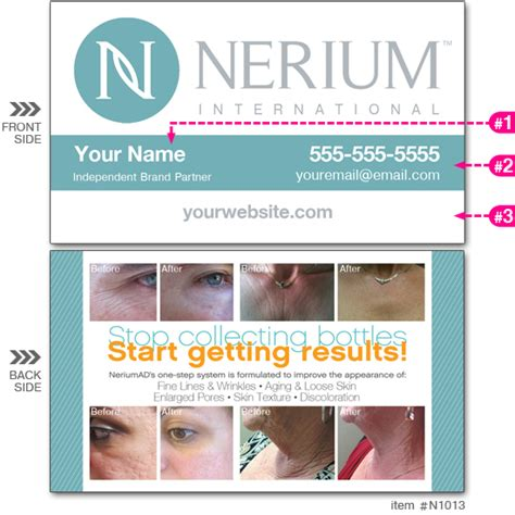 nerium business cards template nerium store business cards image collections card