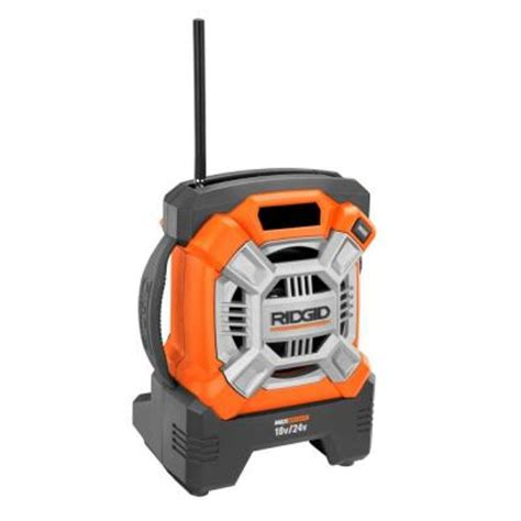ridgid 18 volt compact radio console r84081n the home depot