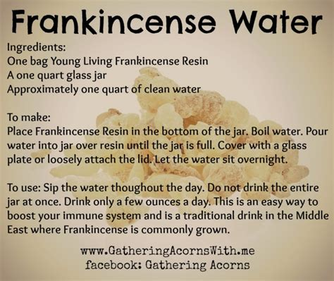 got health problems drink frankincense water here is how