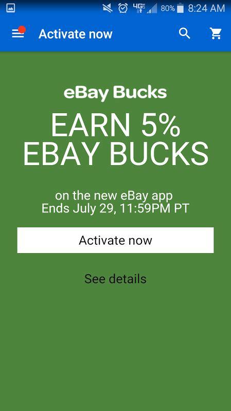 printable ebay gift certificates 5 bonus ebay bucks offer till july 29th plus available