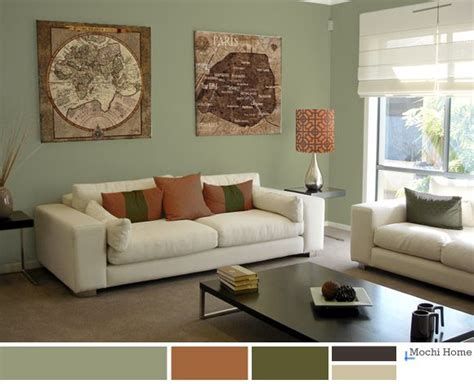 living room ideas with sage green walls com on entrancing warm sage green living room with rusty orange see website