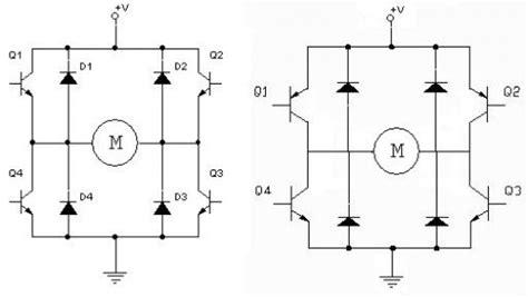 npn transistor h bridge h bridge npn vs pnp let s make robots