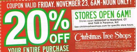 christmas tree shops 20 off printable coupon