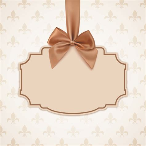 bow card template beige free vector 143 free vector for