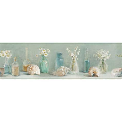 Wallborder Wallpaper List Kode 1022 chesapeake cahoon sea glass wallpaper border dlr53603b the home depot