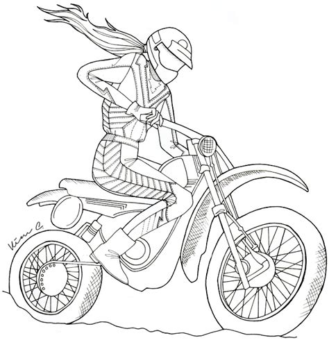how to draw a motocross bike dirt bike drawing imgkid com the image kid has it