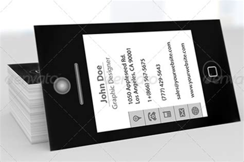 Smart Business Card Template by 20 Iphone Business Card Templates Free Psd Designs