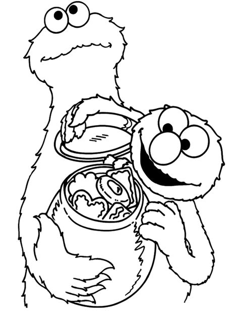 coloring pages elmo cookie monster elmo and cookie monster coloring pages coloring home