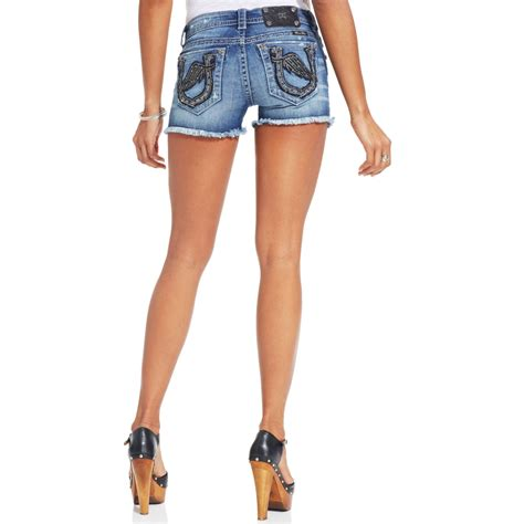 Miss Portable Gadget Brings Bling To The Pocket Knife by Lyst Miss Me Rhinestone Denim Shorts In Blue
