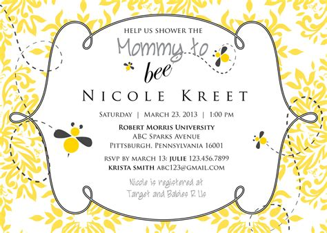 Bee Baby Shower Invitations by To Bee Baby Shower Invitation Printable
