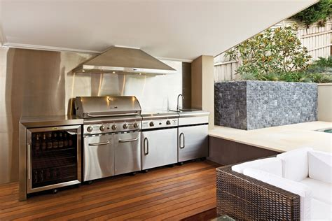 modular stainless steel outdoor kitchen cooking capers a look at outdoor kitchens completehome