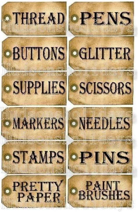 craft room labels new 12 sewing room studio supplies tags label uprint thread