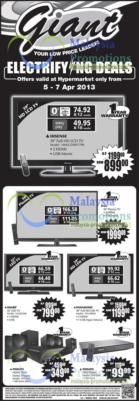 Tv Led Hypermart hypermarket tv home theatre offers 5 7 apr 2013