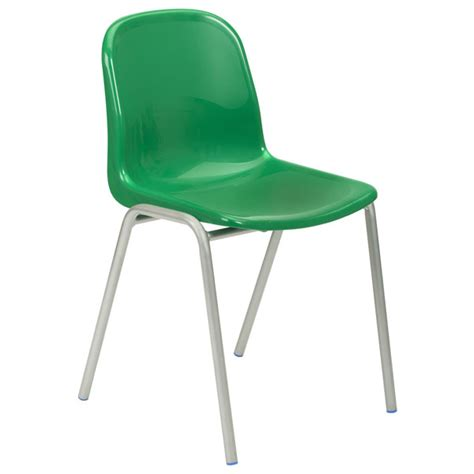 Proform europe harmony school chairs 430mm high green seat grey frame pack 4 rapid online