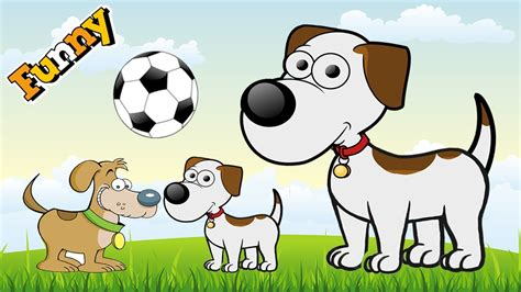 funny dogs cartoons  children funny dog video