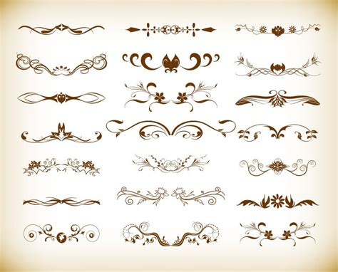 antique design elements 30 vector vintage element decoration vector graphics set free