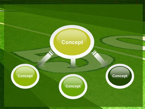 American Football Field Powerpoint Template Backgrounds 05744 Poweredtemplate Com Football Field Powerpoint Template