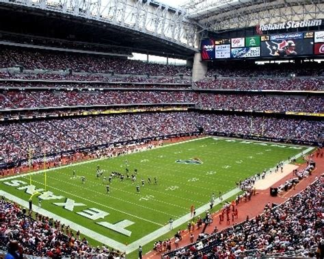 houston texans stadium houston texans reliant stadium the packers play in every nfl
