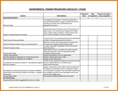 Tender Recommendation Report Template 8 Exle Of Tender Document Quote Templates