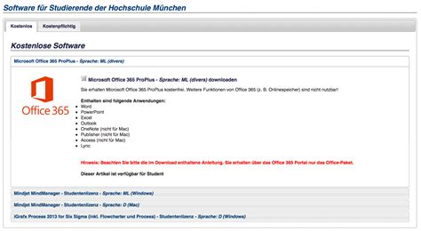Hochschule Munchen Bewerbung Login Office 365 Proplus F 252 R Studierende Kostenlos Fachschaft 05