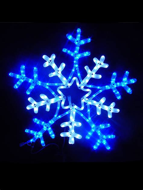blue rope lights outdoor led outdoor rope light 65cm snowflake
