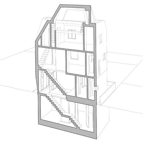 office block floor plans 3novices theplus architects builds narrow office block for