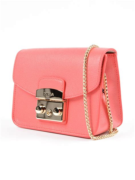 Furla Bag 849 2 furla furla metropolis mini shoulder bag pink purple