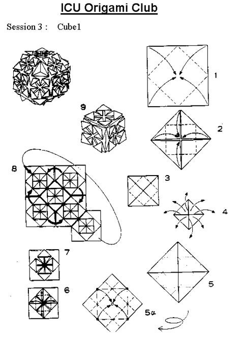 printable origami cube instructions origami srce