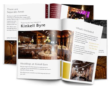 a brochure kinkell byre events venue packages - Wedding Brochure Request
