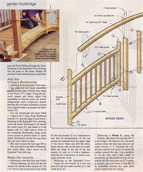 footbridge plans footbridge plans plans wooden garden furniture woodworking