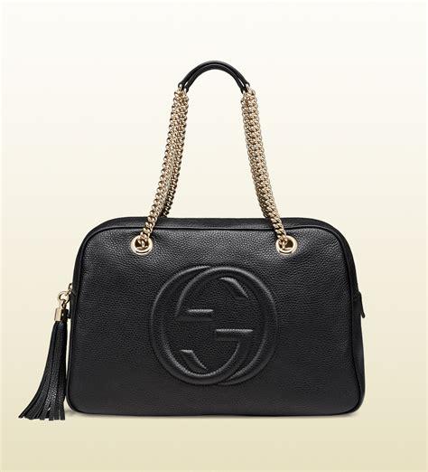 Barbar A2 Bags Bambalina Barbar Black lyst gucci soho leather shoulder bag in black